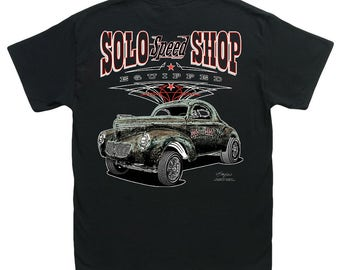 Solo Speed Shop Hauler Black T-Shirt HS 049 Gasser Pickup | Etsy