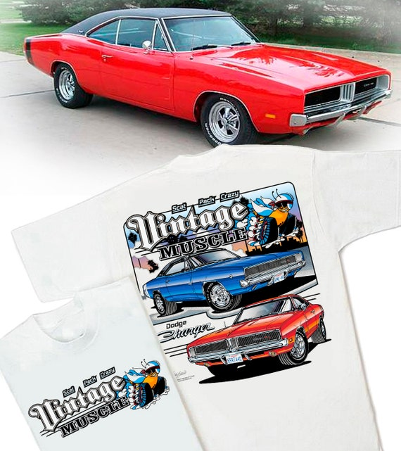 Dodge Charger Vintage Muscle Men/'s T-Shirt