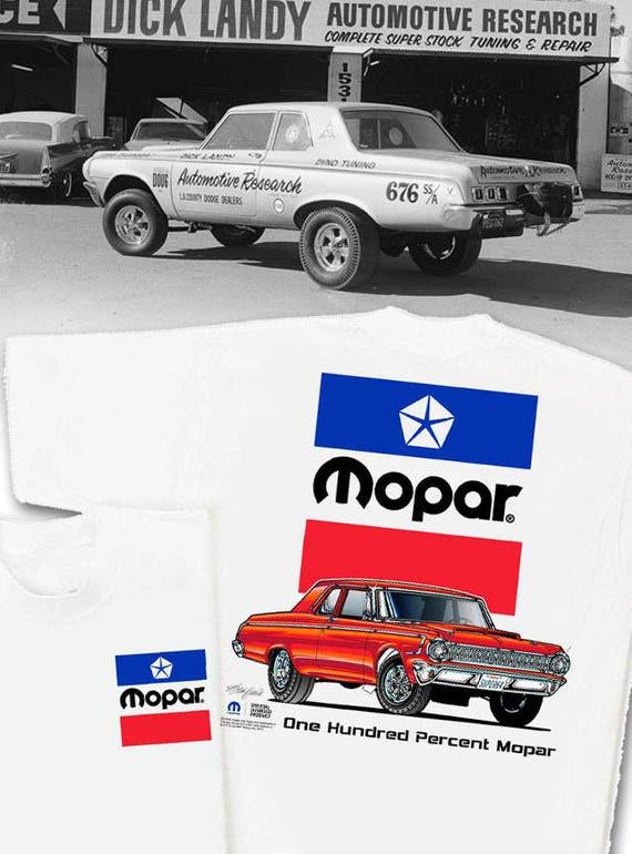 Mopar 1964 Dodge White T-Shirt HS 026 S/S Super Stock 426   Etsy
