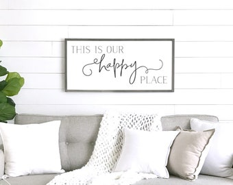 My Happy Place Sign Etsy