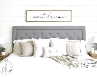 Merveilleux Sweet Dreams Sign   Bedroom Wall Decor   Master Bedroom Decor   Wood Framed  Sign   Bedroom Wall Art   Master Bedroom Sign