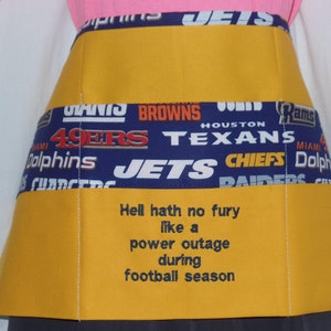 Utility Pouch Holster Side Apron One Cat Short of Crazy Amusing Sayings Server Waitress Vendor Craft by Diner Divas