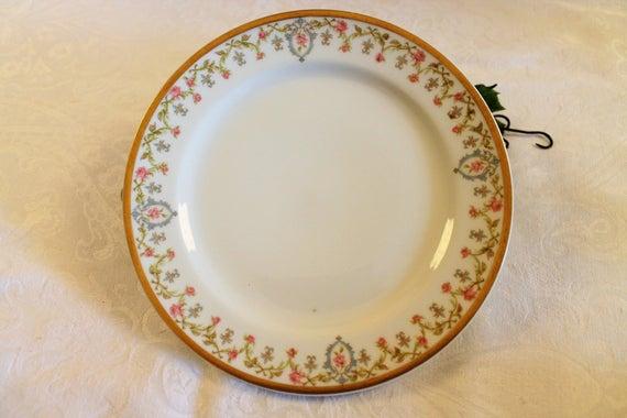 Haviland Co Limoges 7 5 Salad Plate Pastel Pink Etsy