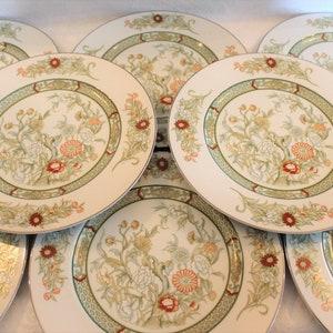 Vintage Dinnerware Mikasa Continental Ivory octagonal Japan China Replacement Vintage Salad Plates Greenery
