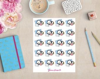 Kawaii Chill Penguin Sticker Sheet