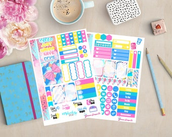 Best of the 80's l Personal Size Planner Stickers, Sew Much Crafting Inserts