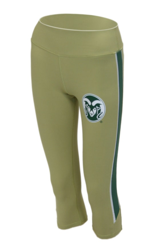 Twin Vision Activewear Washington Huskies NCAA Womens Yoga Capri Pant Gold
