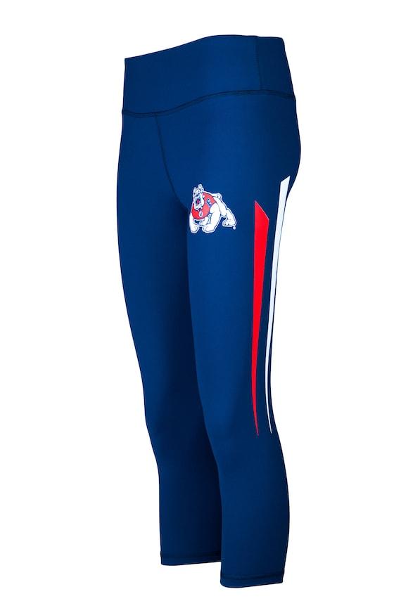 Black Twin Vision Activewear UNLV Rebels NCAA Womens Yoga Capri Pant Leggings