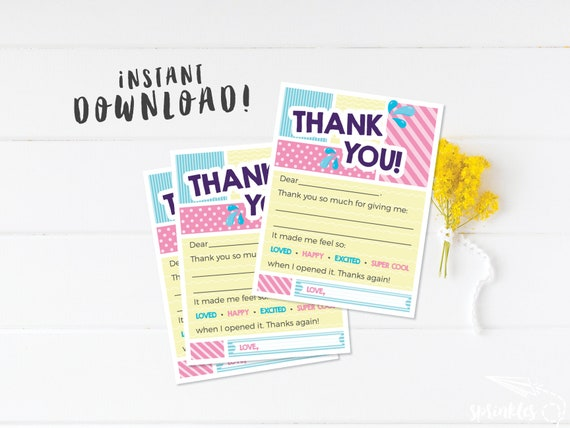 Fill in the Blank Pirates Printable Ad-Lib Thank You Cards for Kids