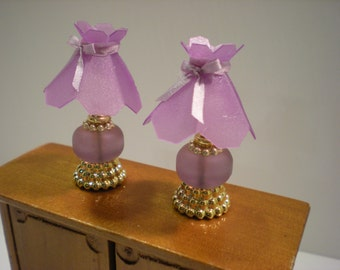 1:12 - Dollhouse Miniature - Table Lamps - Handmade - non electric