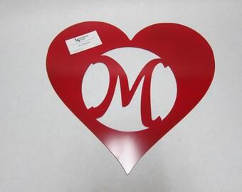 Valentine's Door and Wall Hanger,  Custom CNC Plasma Cut Metal Art