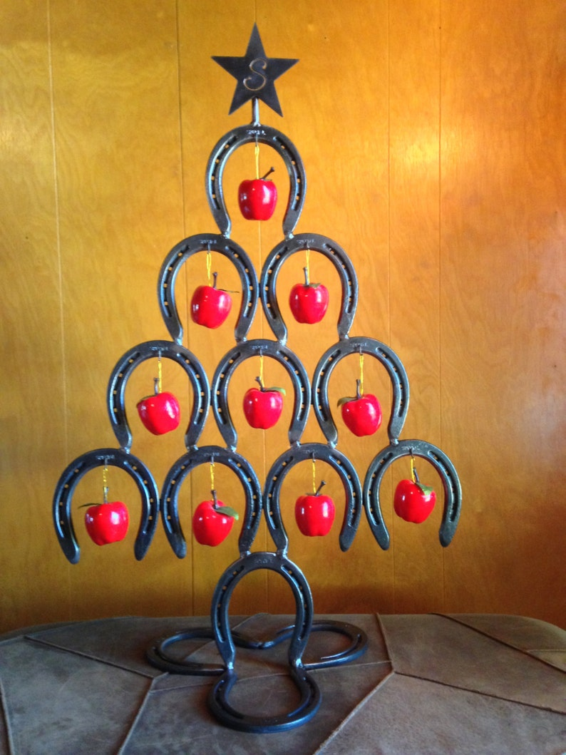 Horseshoe Christmas Tree For Sale.Horseshoe Christmas Tree Ornament Holder Customized With Cnc Cut Topper