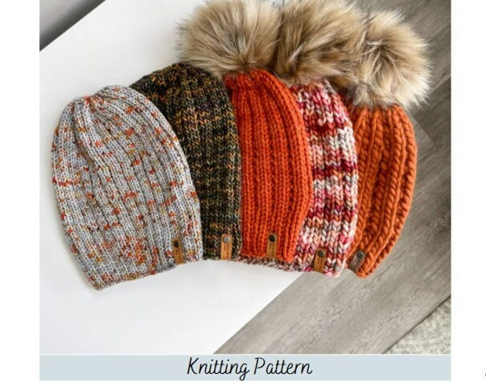 Featured listing image: KNITTING PATTERN: Storm Front Beanie Pattern