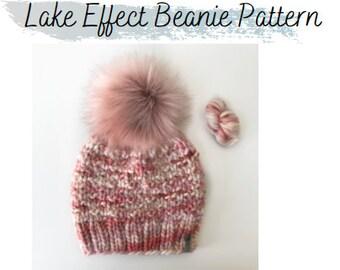 KNITTING PATTERN: Lake Effect Beanie Pattern