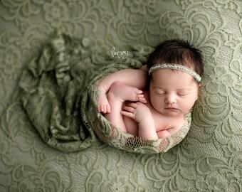 Bean Bag Fabric backdrop Posing Fabric Newborn Backdrop Beanbag Fabric Ice Blue Floral Lace Neutral Texture Newborn Posing Fabric