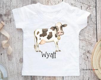 f441c87b Cow Toddler Boy T-Shirt, Cow Toddler Tee, Cow Personalized Toddler Shirt, Cow  Kids Shirt, Toddler Clothing, Cow Boy Tee, Custom Boys Tee