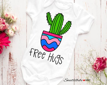 a97418601 Free Hugs Baby Onesie®, Cactus Baby Onesie, Baby Shower Gift, Funny Baby  Onesie, Cactus Baby Bodysuit, Cute Baby Clothes, Gift For Baby