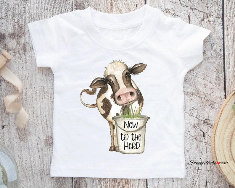 New to The Herd Baby Boy Onesie® Cow Baby Onesie Cow Baby ...