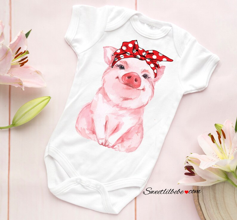 5c2d2abb02cbf Piggy Baby Onesie®, Piggy Baby Bodysuit, Infant Baby Girl Onesie, Pig  Onesie, Baby Shower Gift, Gift For Baby, Baby Girl Clothes