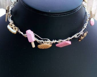 Sweet and Cakes with Wire Statement Choker Reduced to Clear - Sale!