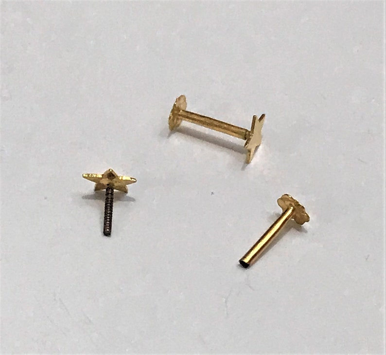 Beautiful Star Nose Stud in Pure 12carat Gold