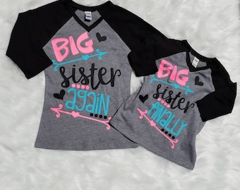 Big Sister shirt - big brother shirt - big sister - big brother - big brother gift- Big sister gift -little sister gift - baby announcement