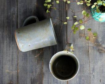 Hand made pottery mugs, hand thrown mug, pottery coffee mug, pottery tea cup, large tea cup, pottery mug, stoneware mug, ceramic tea c