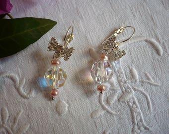 Stud earring, Crystal and Silver earrings