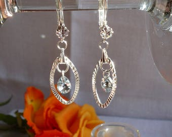 Silver and Swarovski earrings