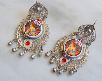 Romantic and vintage Silver earrings