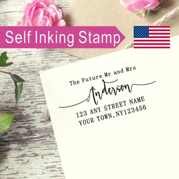 Return Address Stamp Future Mrs Pre-Inked Address Stamper Personalized Engagement Address Stamp Self-Inking Bridal Shower Stamp