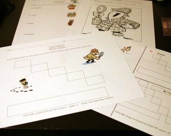 Reproducible worksheet 4PK Sound off Sound out Lesson 01