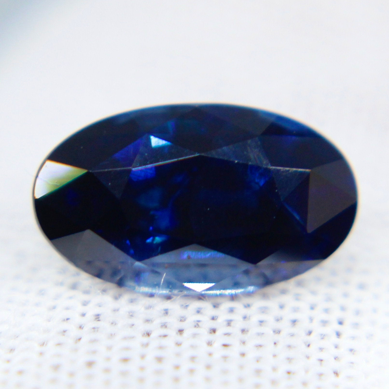 Deep Pastel Blue Loos Gemstone 3.20 Carats Natural Blue Sapphire Faceted 9x7x5 MM Oval Deep Blue Color Normal Cutting BS-6.
