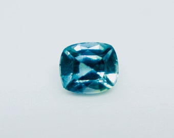 Loose Teal Sapphire | Cushion Cut | 5.60mm | Unheated | Untreated | Clean | Loose Blue Green Sapphire