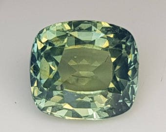 Natural Teal Green Sapphire | Cushion Cut | 5.82mm | Unheated | Untreated | Gemstone