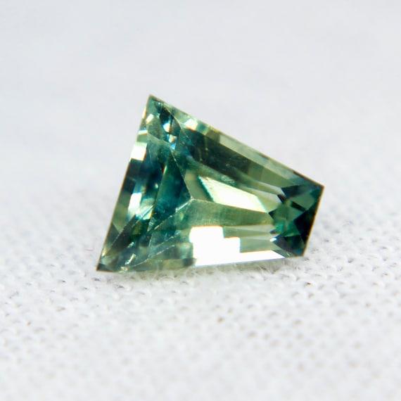 Cushion Cut Loose Gemstones 6.12x4.52 mm Engagement Rings 0.81 Carat Jewellery Loose Sapphire Natural Green Sapphire