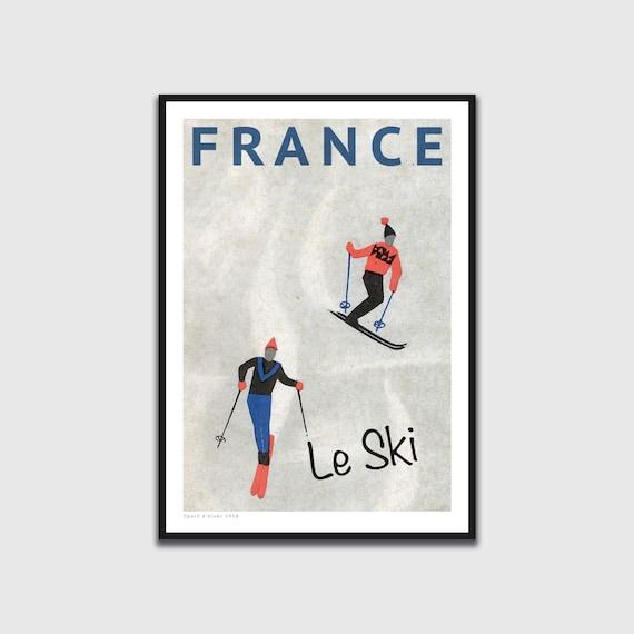 ski print skiing print watercolour a4  wall art picture gift 13 unframed