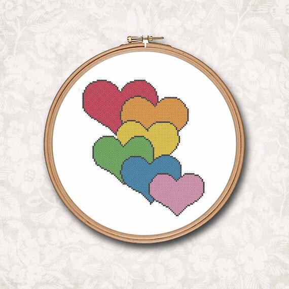 Arco iris de amor de corazones apilados conversación contaron | Etsy