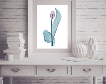 Whimsical Modern Tulip Flower Counted Cross Stitch Pattern