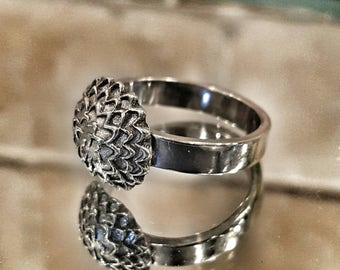 Sterling Silver Chrysanthemum Ring - Sterling Silver Mum Ring  - Chrysanthemum - Mum - Mum Ring - Silver Mum Ring - Silver Flower Ring