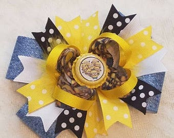 Minions Stacked Hairbow