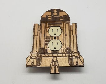 Star Wars R2D2 - wooden outlet cover
