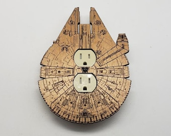 Star Wars Millennium Falcon - wooden outlet cover