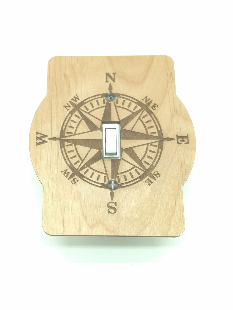 Switch Plate Cover Compass Rose