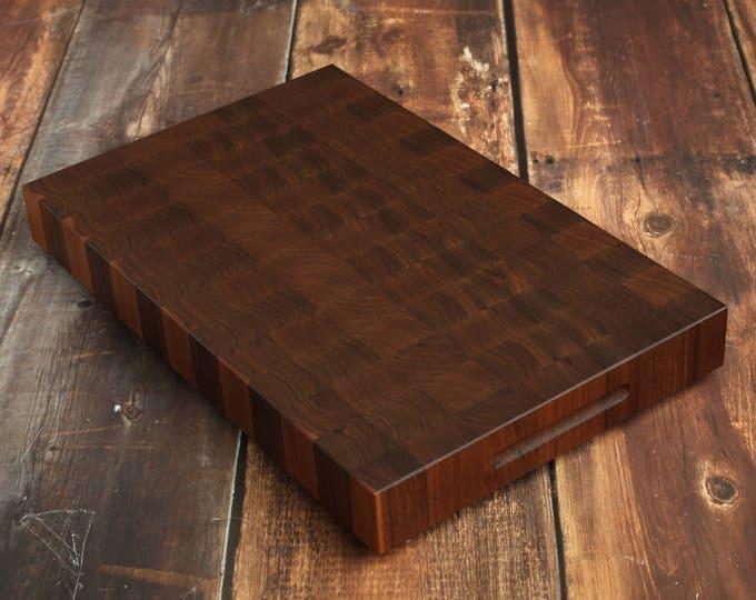 Walnut Cherry Wood Chopping Extra Large End Grain Butcher Block Cutting Board
