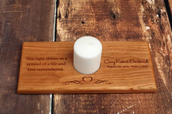 Memorial Candle Holder Personalized Memorial Candle Etsy