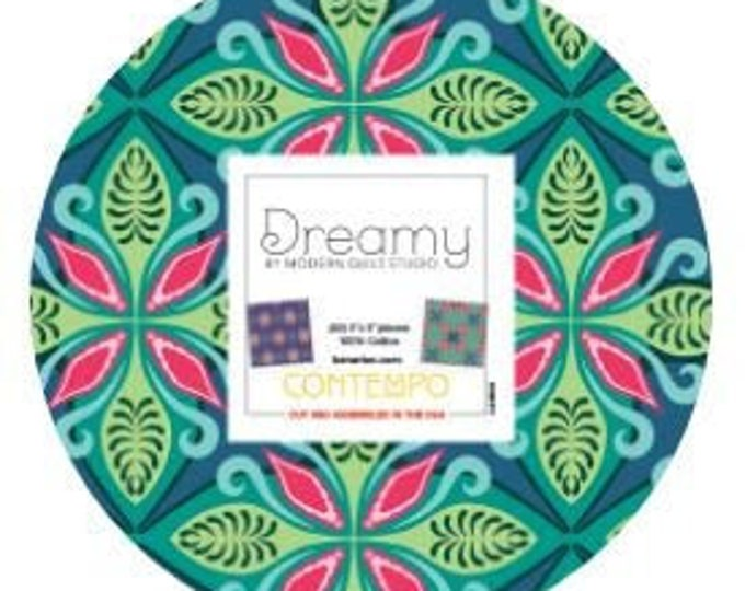 Benartex - Dreamy - Charm Pack - 42 squares -  5 inch squares -  Precut Charm Pack - Sold by the Pack
