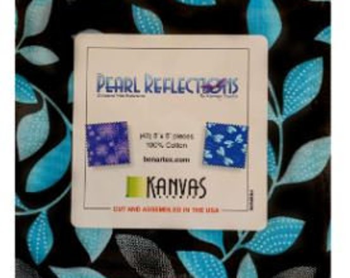"""Kanvas for Benartex - Pearl Reflection - Pearl - Dandelion  -Charm Pack - 5""""x5"""" Squares - (42) 5x5 - Pearl - Sold by the Pack"""