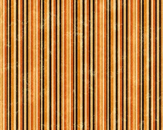 Northcott - Black Cat Caper - Stripe - Halloween - Border - Harlequin Pumpkins -  24123-99 - Sold by the Yard