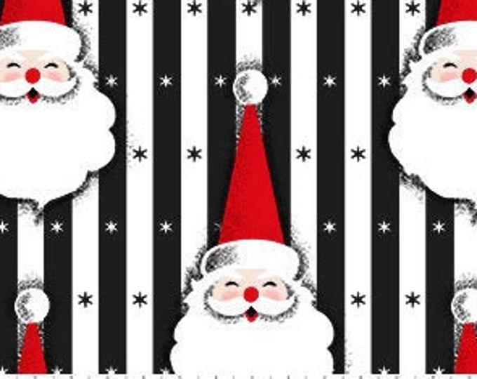 Patrick Lose -  Christmas Magic - Santa - Christmas - Retro Christmas - Black - 10024-99 - Sold by the Yard